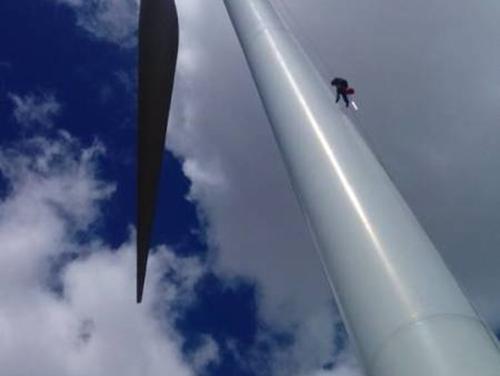 风电塔筒清洗
